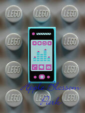 NEW Lego Minifig Blue CELL PHONE 1x2 PRINTED TILE Girl Friends Smart iPhone iPod