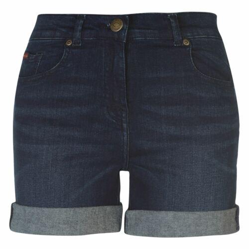 Lee Cooper Regular Denim Shorts Ladies Pants Trousers Bottoms Zip Contrast