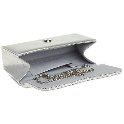 CASPAR TA351 elegante Damen Clutch Tasche Abendtasche Brauttasche Satin klein