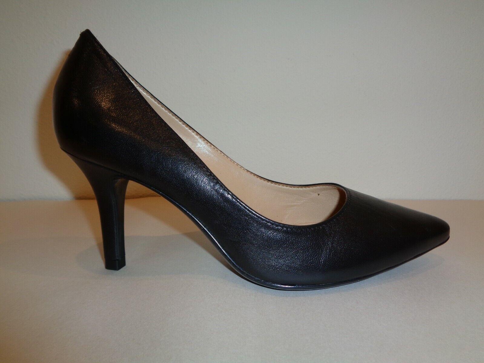 Antonio Melani Size 8 M ODETAH Black Leather Heels Pumps New Womens shoes