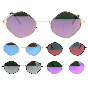 30ddc9bd54a68 Image is loading Color-Mirrored-Lens-Diamond-Shape-Pimp-Daddy-Hippie-
