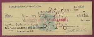 Burlington-Coffin-Company-Cancelled-Check-1940