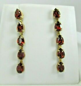 Details about  /1.8 CTW 14K Solid White Gold Make Believe Garnet Earrings