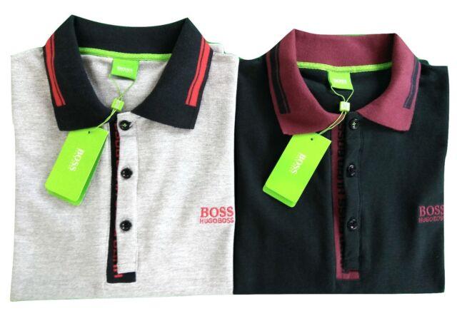 Lot of 2 Men's Hugo Boss Paule 4 Short Sleeve Polo Shirt 2 Colors Mixed Set L