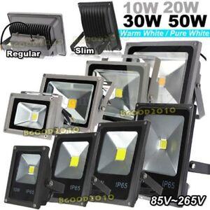 Faro-Faretto-A-LED-Ultra-Slim-Regolare-Luce-Calda-Fredda-10W-20W-30W-50W-Esterno