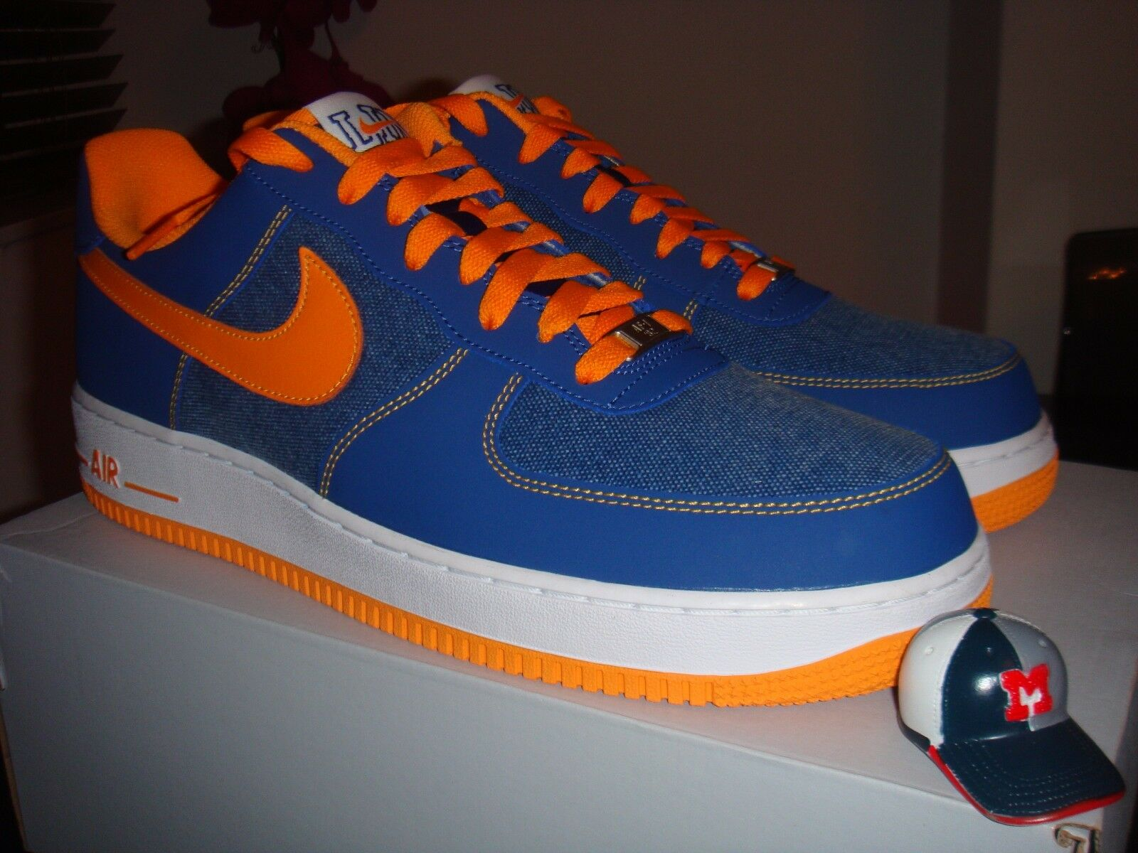 Nike Force 1 bajo 12.5/PE/Knicks/AF1/Off Jeremy Lin Air US 12.5/PE/Knicks/AF1/Off bajo Blanco/Lab/'07 43fdc5