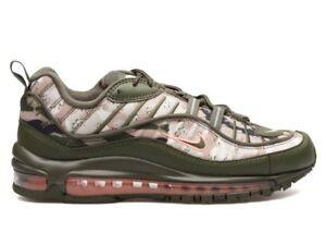 New Nike Air Max 98 Size 11 Cargo Khaki Olive Camo Mens AQ6156 300