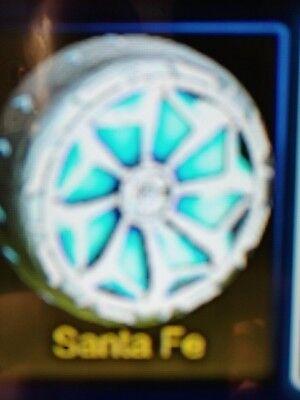 Xbox One Rocket League Cobalt Painted Santa Fe Wheels Ebay
