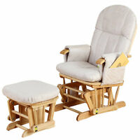 Tutti Bambini Gliding Nursery Chair And Stool - Gc35 - Natural