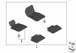 BMW-Sol-Tapis-Kit-Velours-Anthracite-Marche-Pieds-3-039-3er-F30-F31-F80-51477294036