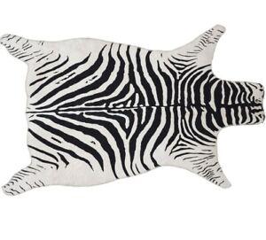 Home Accent Rug Samar Zebra Print White/Black Rug, 3' x 5'