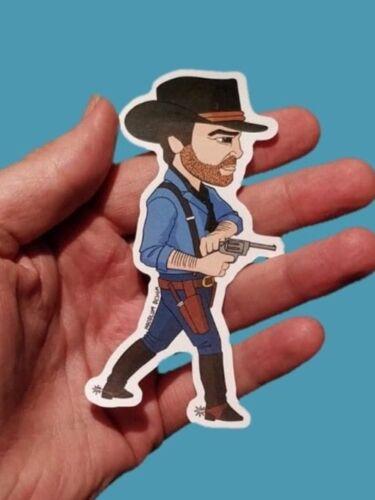 Red Dead Redemption style cowboy Sticker 11x5cm Pop culture art sticker