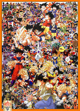 VINTAGE 1989 DRAGONBALL Z COLLAGE POSTER 26 x 39 inches NEW LOWER PRICE
