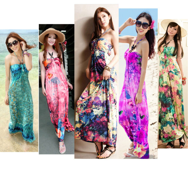 NEW Summer Women Beach Boho Maxi Sundress Evening Party Maxi Long Dress