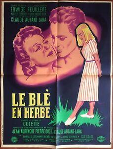 Affiche-LE-BLE-EN-HERBE-Claude-Autant-Lara-EDWIGE-FEUILLERE-Nicole-Berger-60x80