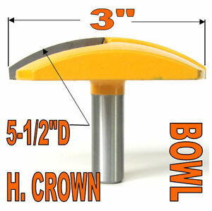 1-pc-1-2-034-SH-3-034-Diameter-Horizontal-Crown-Bowl-Molding-Round-Router-Bit-S