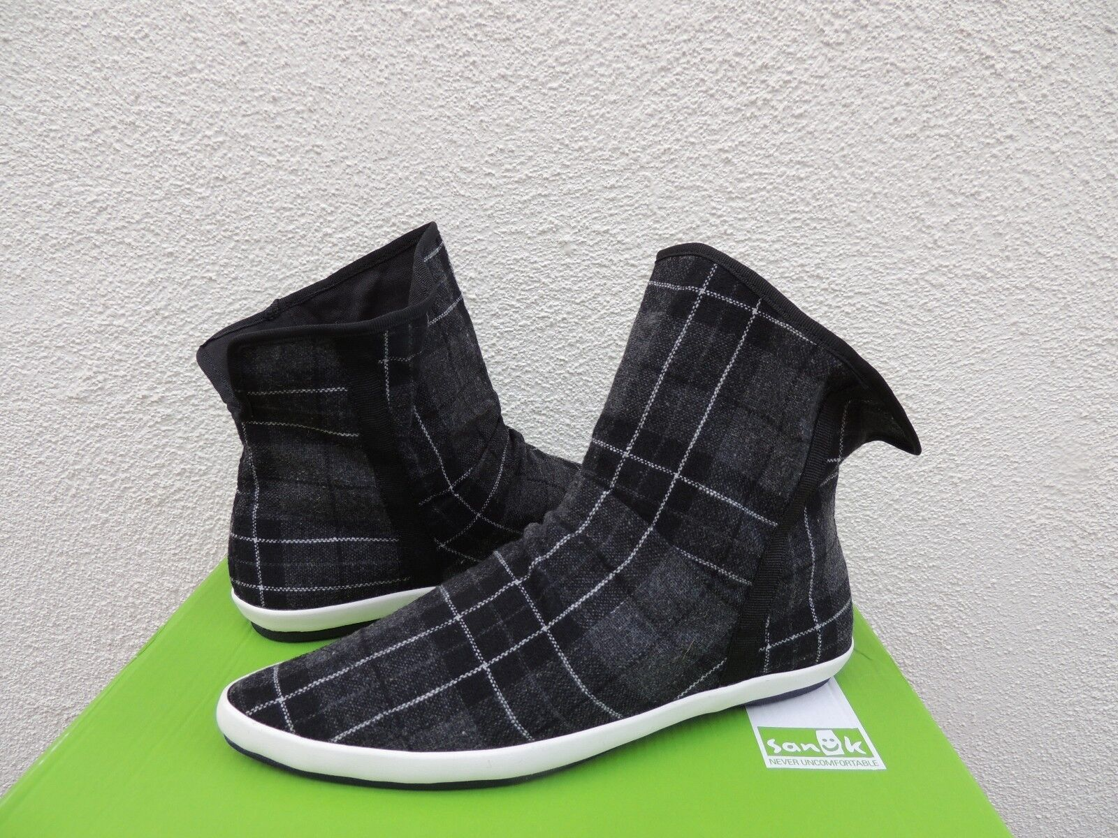 SANUK schwarz KAT SPHYNX PLAID CHIC SLOUCH SLOUCH SLOUCH ANKLE Stiefel, US 7  EUR 38 NWT 638502