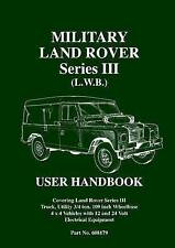 military land rover series iii l w b user manual by brooklands rh ebay co uk land rover lightweight user manual land rover user manual