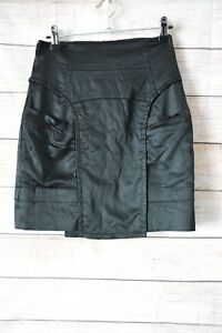 Cue-Skirt-Sz-8-Small-Black-Pencil-Skirt-Exposed-Zip