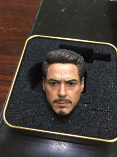 ELITE TOYS Tony Stark The Avengers 1//6 Scale Male Head Model Toy Fit 12/'/' Doll