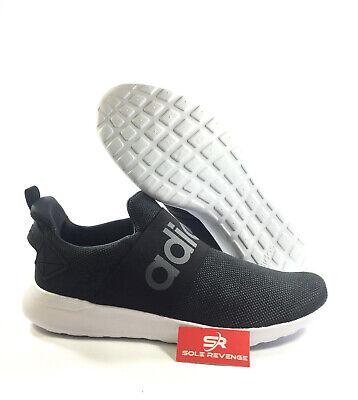 New adidas LITE RACER CF SLIP-ON ADAPT - DB1645 Cloudfoam Black White Shoes | eBay