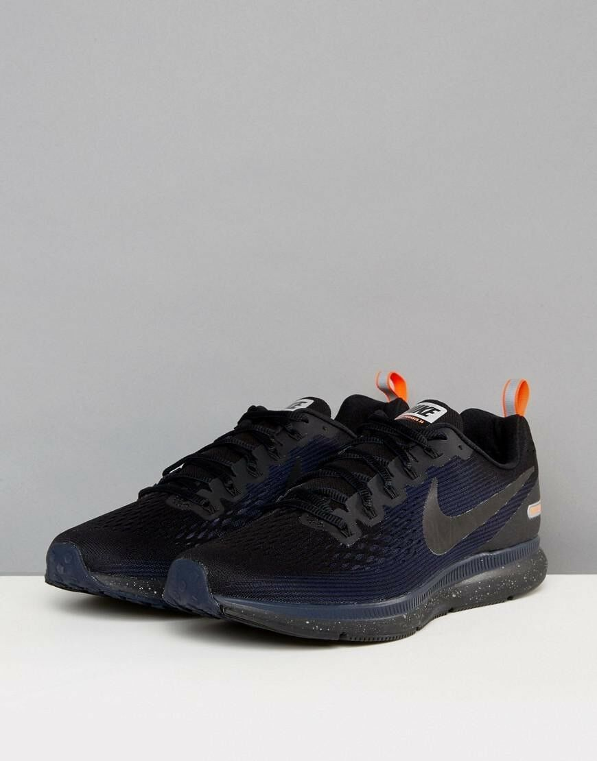 Nike Air Zoom Pegasus 34 Shield Size 10.5 Running shoes Black Obsidian