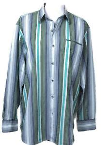 867d3d7b1 Tommy Bahama Womens Shirt Large Button Down LS Top Stripes Blue Gray ...