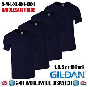 f24df4ba Navy Blue T Shirt Gildan Pack Bundle 100% Cotton Lot Colours ...