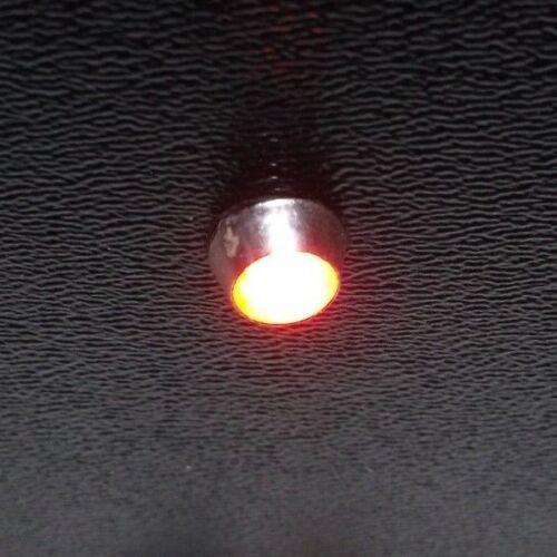 5 BBT 12 volt Red LED Indicator Lights in Chrome Bezels