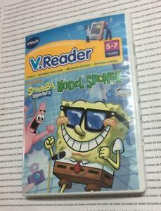 V-Reader-VTech-Game-SpongeBob-Model-Sponge-Kids-Reading-Education-School-NEW