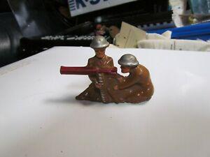 Barclay Manoil Lead Toy Soldier Machine Gun Crouching