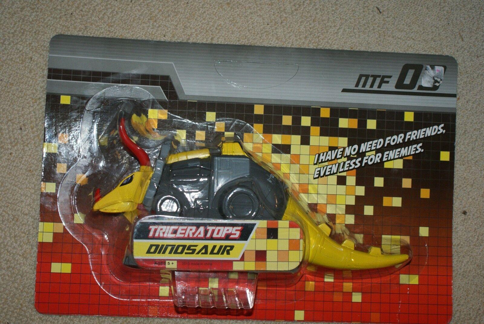 NTF-03 Robot Triceratops Dinosaur 6  Vinyl Non-Transforming Slag Figure Rare