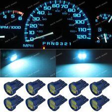 10x Ice Blue T10 168 W5W LED Gauge Speed instrument Panel Dashboard Light Bulb 1