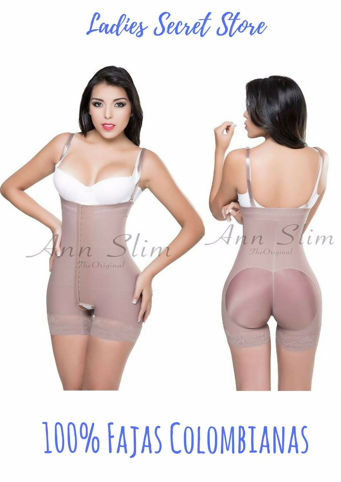 Fajas Colombianas Ann Slim Strapless Firme compression powernet moldeadora 3301