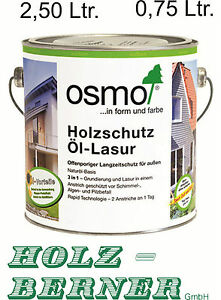 osmo holzschutz l lasur transparent au en verschiedene farben 0 75 oder 2 50l ebay. Black Bedroom Furniture Sets. Home Design Ideas