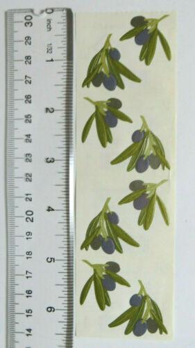 Mrs Grossman OLIVE SPRIGS Strip of Vintage Olive Sprigs Stickers