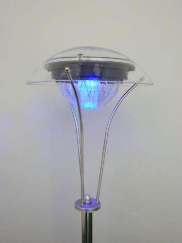 2 x farbwechselnde LED Solarleuchte Gitte Edelstahl mit Erdspieß Wegeleuchte