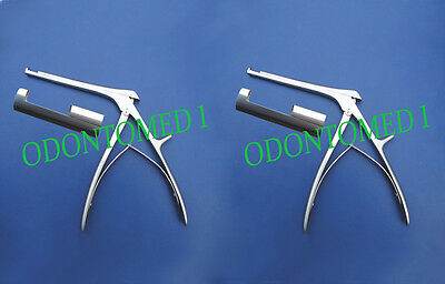 "2 Kerrison Rongeur 7"" 1MM + 3MM  Up Bite 90 Degree Orthopedic Instruments"