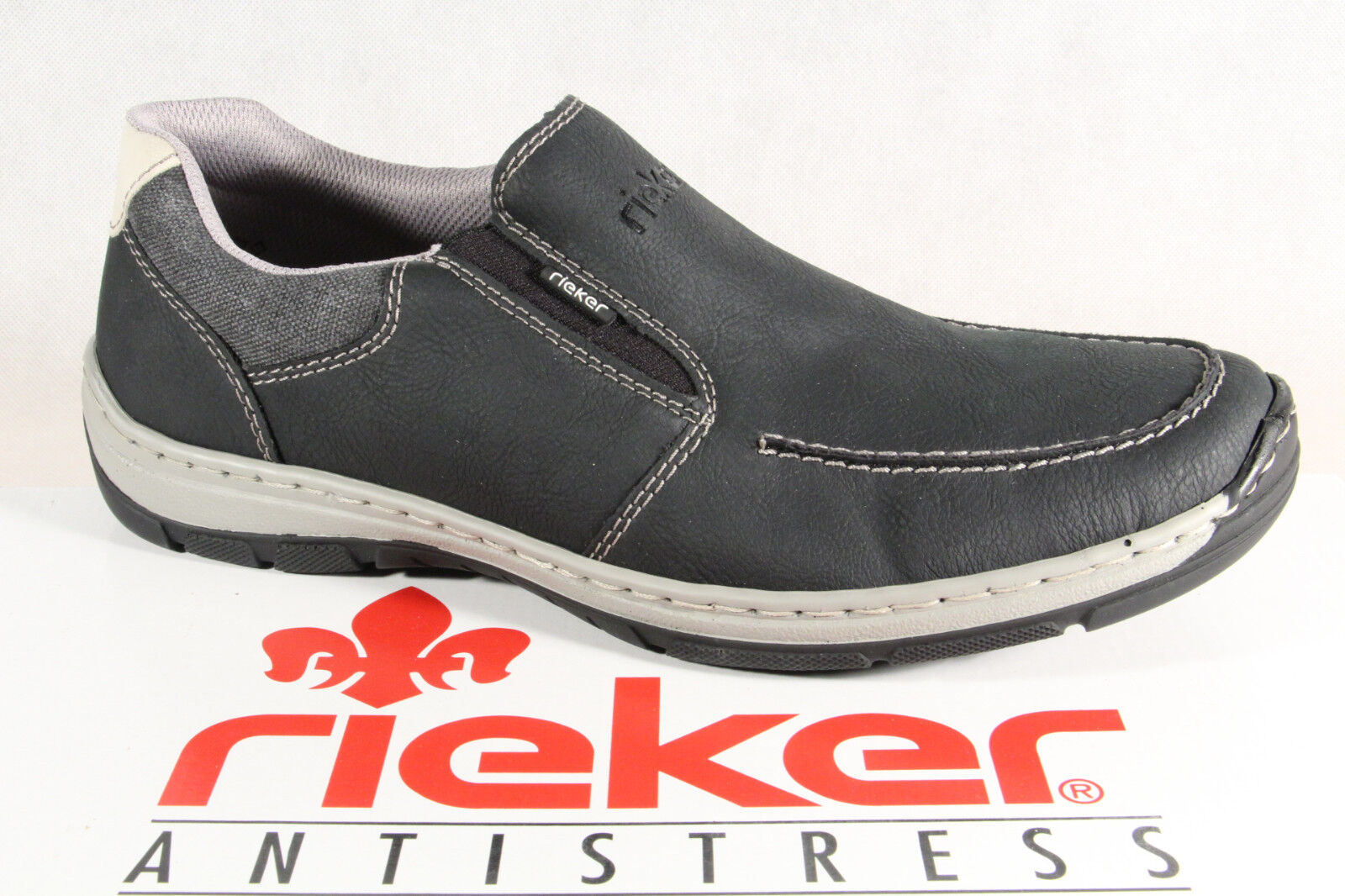 Rieker Sneakers Men's Slippers Low Shoes Sneakers Rieker Trainers Black New 1f782a