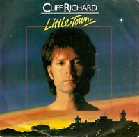 "CLIFF RICHARD Little Town 7"" Single Vinyl Record 45rpm EMI 1982 EX"