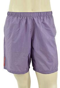 $295 Prada Violet Clair Nylon Piuma Shorts de bain Trunks nouvelle collection