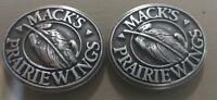 Lot Of 2 Mack's Prairie Wings Conchos With Screws