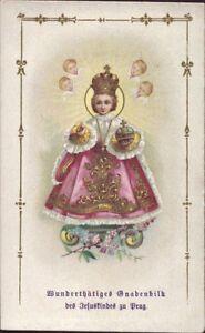 Prag-Jesus-Nino-Cuadro-Santos-Amria-Imagen-Milagrosa-Bohemia-Koloriert-B-6649