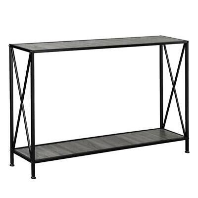 47 Console Table Entry Hallway Entryway Side Sofa Accent Table With Shelf Iron Ebay