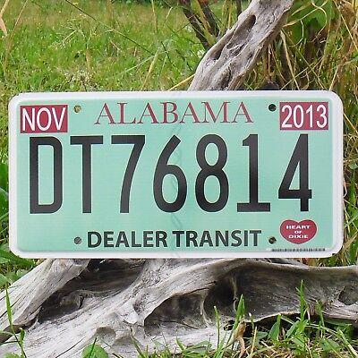 dt76814 Authentisch Kennzeichen'kennzeichen Von'alabama Nummernschild Usa