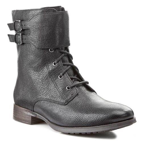 Unido Tamaño Nuevas 5 de negro Reino cuero 5d Frame botas Clarks Busby xx4qgRB