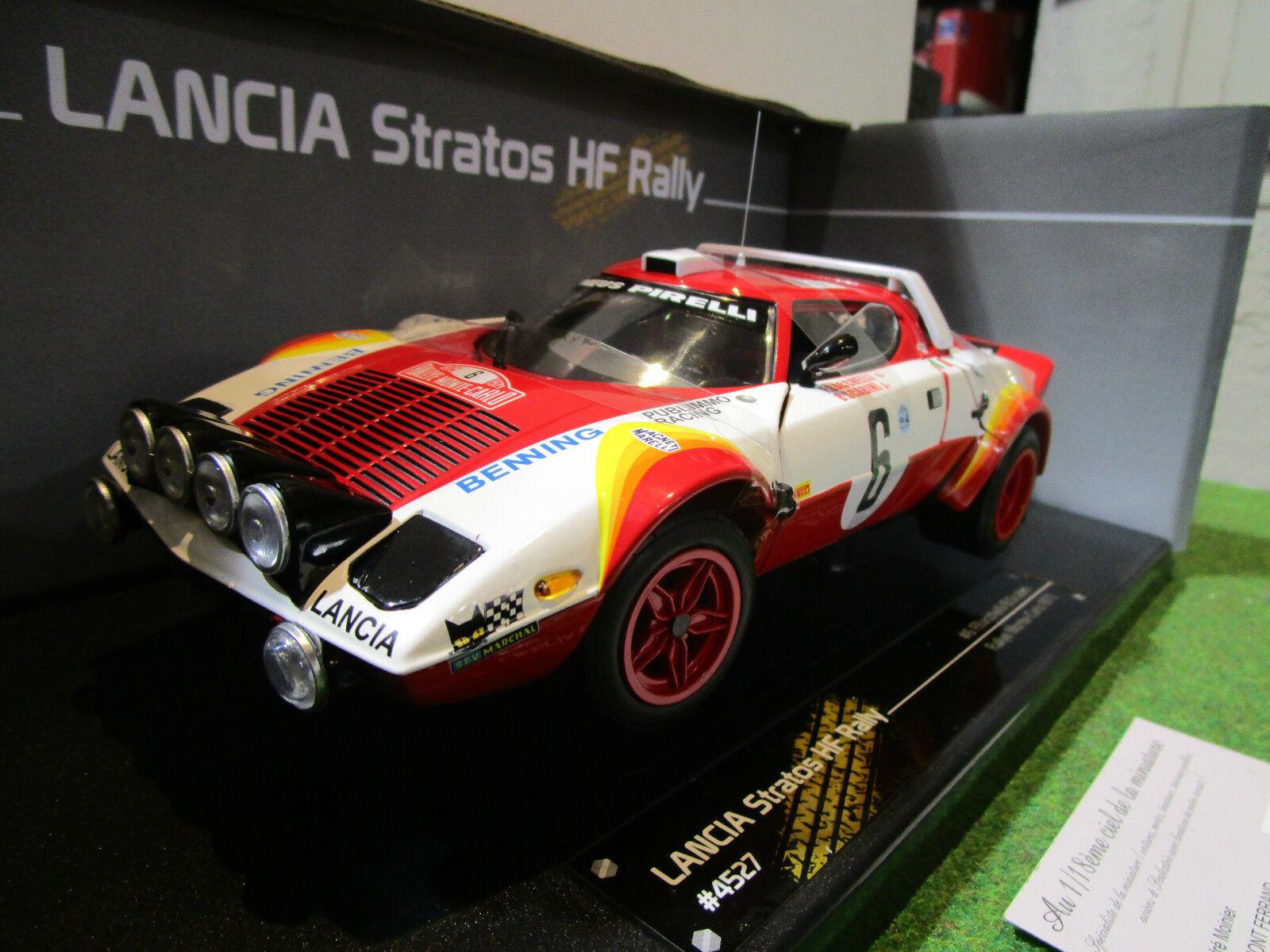 LANCIA STRATOS HF RALLY MONTE voitureLO de 1979  au 1 18 SUN STAR 4527 voiture  gros pas cher