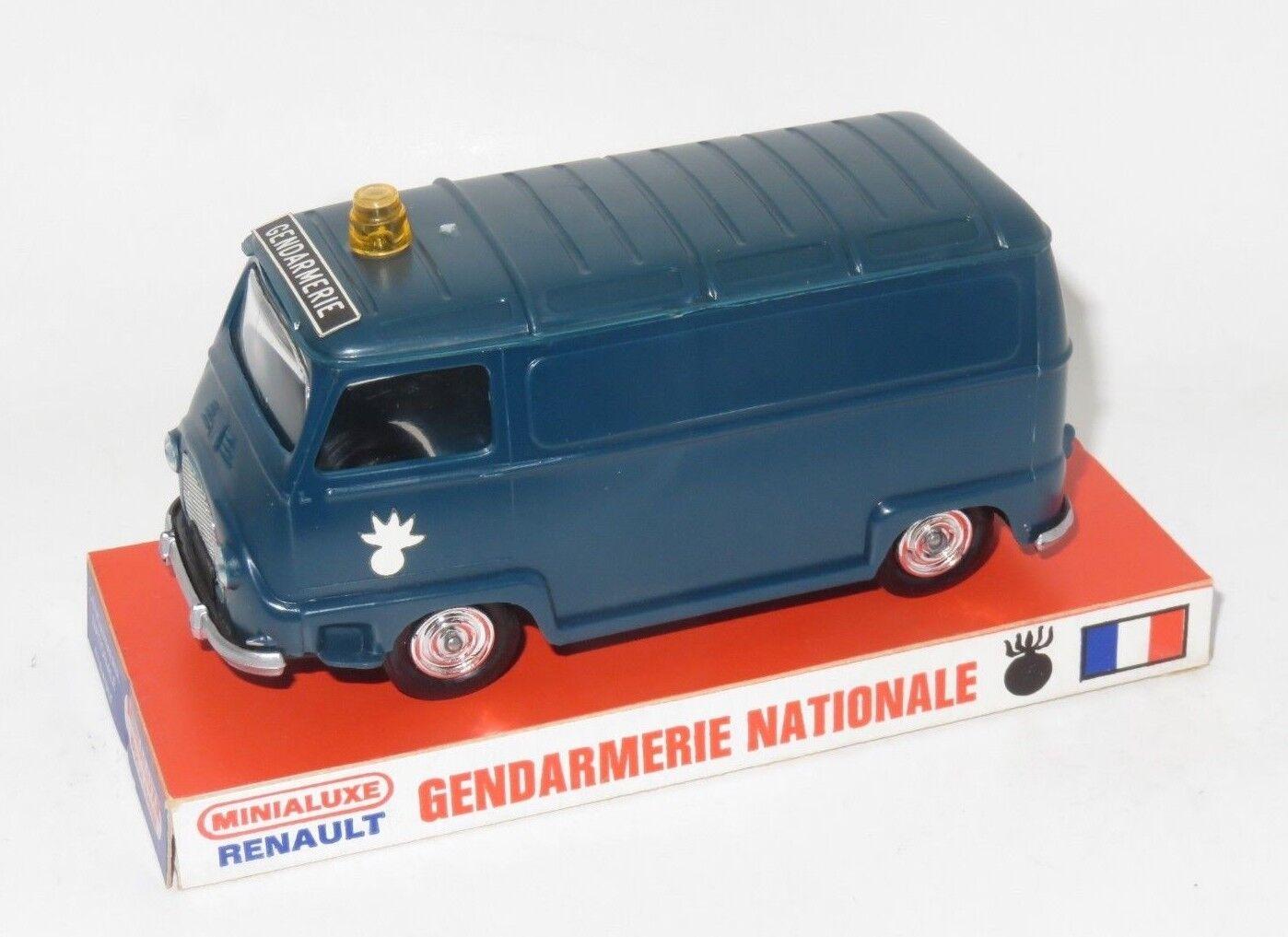 Minialuxe renault gendarmerie nationale   polizei - 1   32 aus plastik, made in france