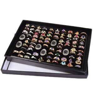 100-Slots-Ring-Lagerung-Ohr-Pin-Display-Box-Schmuck-Veranstalter-Inhaber-vzYL