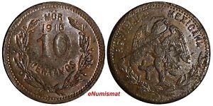 Mexico-Revolutionary-MORELOS-Copper-1916-10-Centavos-aUNC-KM-700